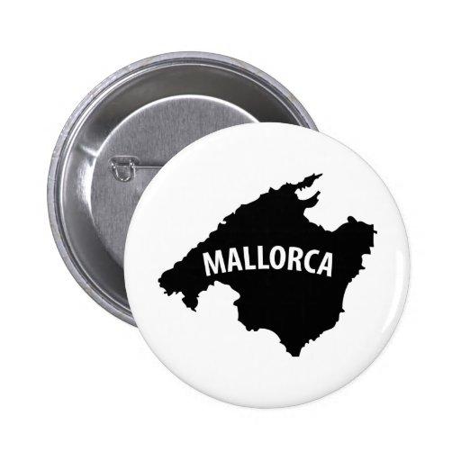 mallorca spain contour icon pinback button