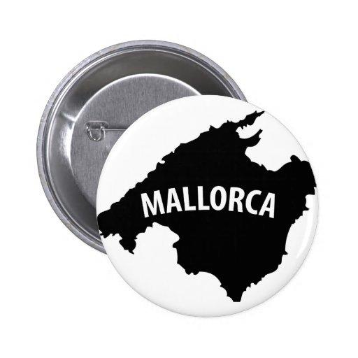 mallorca spain contour icon pinback buttons