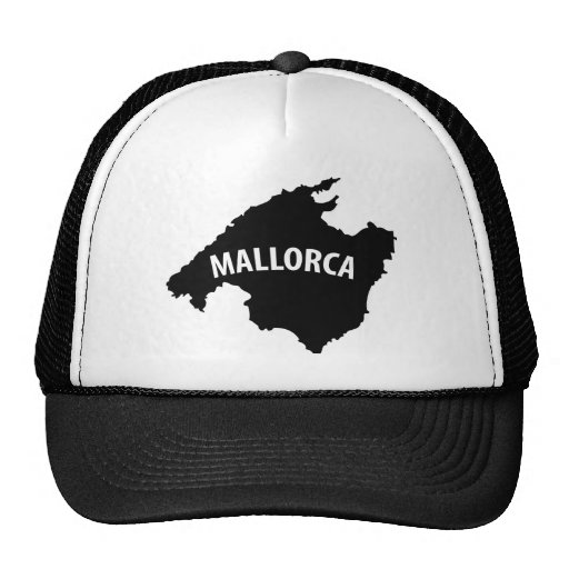 mallorca spain contour icon trucker hat