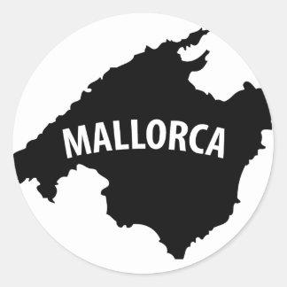 mallorca spain contour icon round stickers