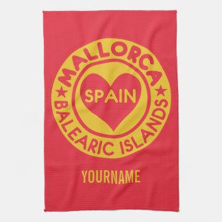 MALLORCA Spain custom monogram hand towel