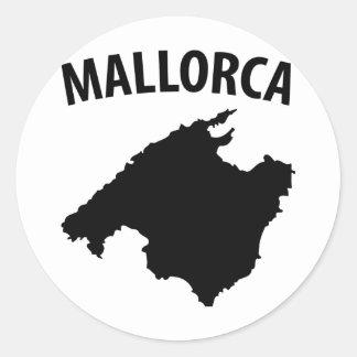 mallorca symbol round stickers
