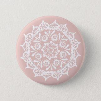 Mallow Mandala 2 Inch Round Button