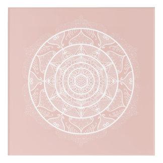 Mallow Mandala Acrylic Print