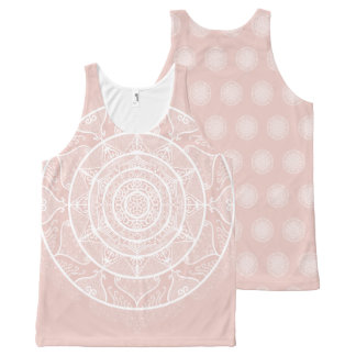 Mallow Mandala All-Over-Print Tank Top