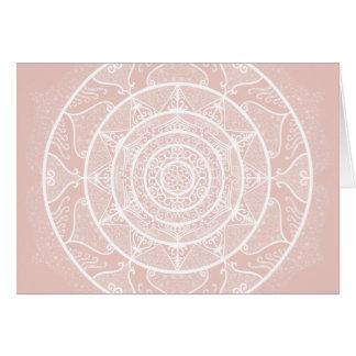 Mallow Mandala Card