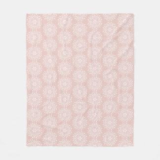 Mallow Mandala Fleece Blanket