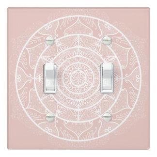 Mallow Mandala Light Switch Cover