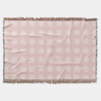 Mallow Mandala Throw Blanket