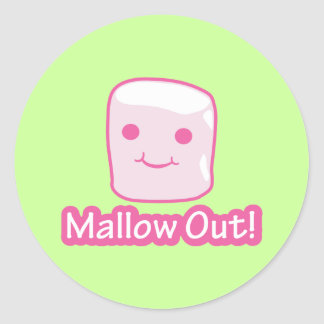 Mallow Out! Round Sticker
