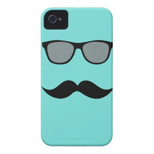 Mally Mac Sunglasses & Mustache iPhone Case iPhone 4 Case-Mate Cases