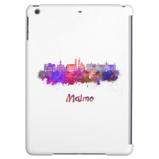 Malmo skyline in watercolor case for iPad air