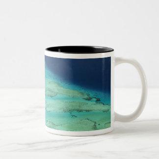 Malolo Barrier Reef off Malolo Island, Fiji 2 Two-Tone Coffee Mug
