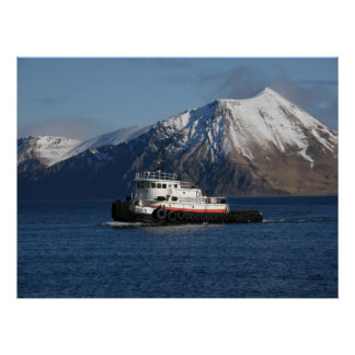 Malolo Tugboat in Dutch Harbor, AK Poster