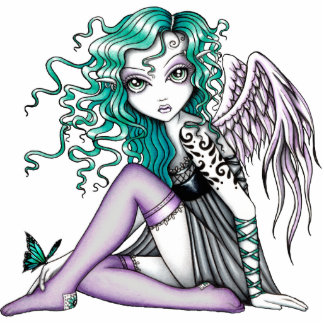 Malory Butterfly Tattoo Angel Standing Photo Sculpture
