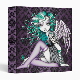 """Malory"" Cute Tattoo Violet Angel Binder Notebook"