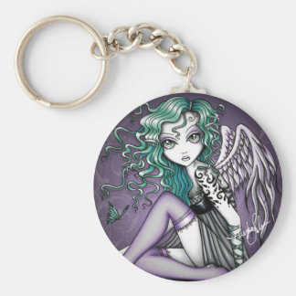 Malory Violet Tattoo Angel Keychain
