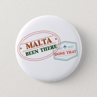 Malta Been There Done That 2 Inch Round Button