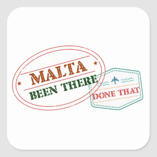 Malta Been There Done That Square Sticker