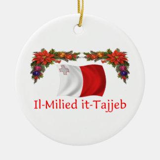 Malta Christmas Ceramic Ornament