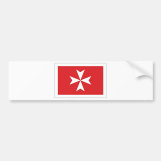 Malta Civil Ensign Bumper Sticker
