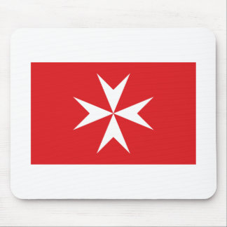 Malta civil ensign mouse pad