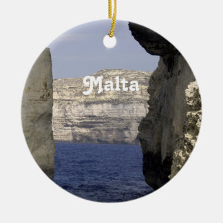 Malta Coast Ceramic Ornament