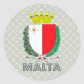 Malta Coat of Arms Classic Round Sticker