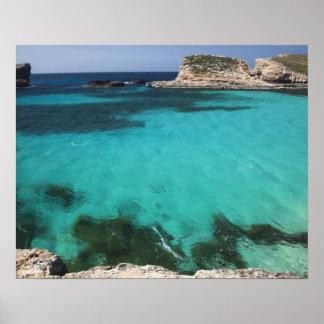 Malta, Comino Island, The Blue Lagoon Poster