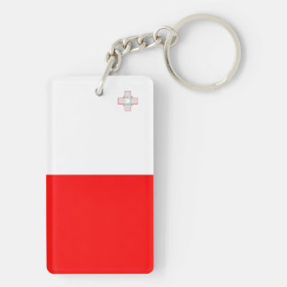 Malta country long flag nation symbol republic keychain