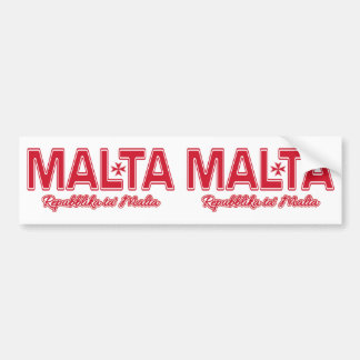 MALTA custom bumperstickers Bumper Sticker