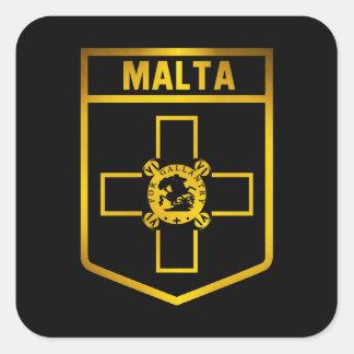 Malta  Emblem Square Sticker