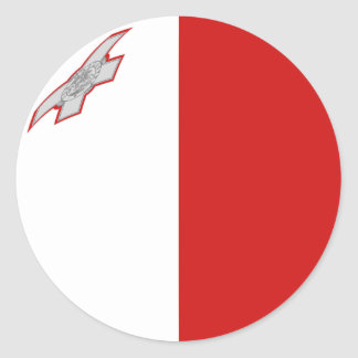 Malta Fisheye Flag Sticker