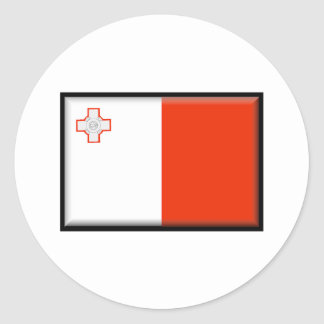 Malta Flag Classic Round Sticker