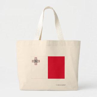 Malta Flag Large Tote Bag