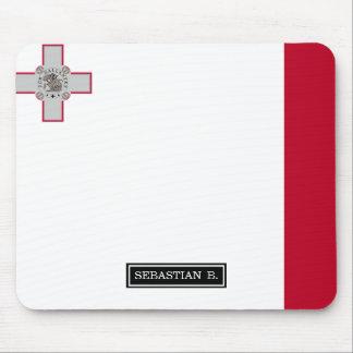 Malta flag mouse pad