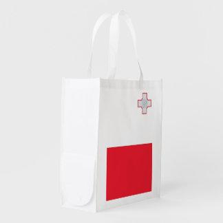 Malta Flag Reusable Grocery Bag