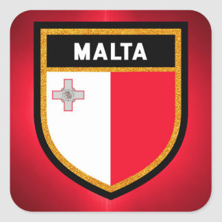 Malta Flag Square Sticker