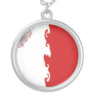 Malta Gnarly Flag Round Pendant Necklace