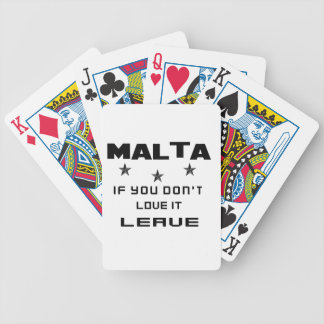 Malta If you don't love it, Leave Bicycle Playing Cards