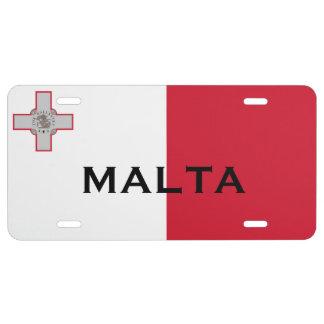 Malta* License Plate  Pjanċa Liċenzja Malta