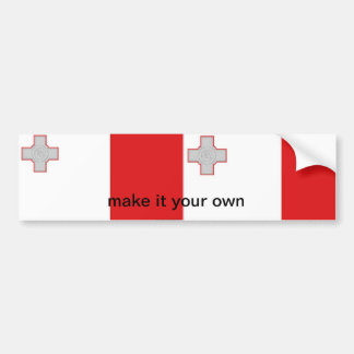 Malta maltese flag bumper sticker