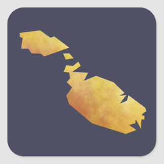 Malta Map Square Sticker