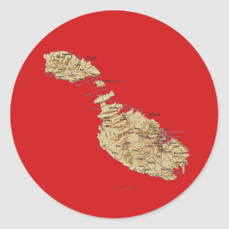 Malta Map Sticker