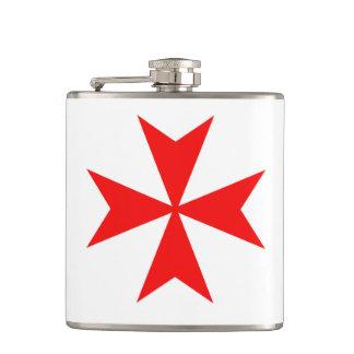 malta templar knights red cross religion symbol hip flask