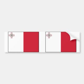 Malta With Border, Malta flag Bumper Sticker