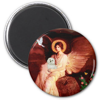 Maltese 11 - Seated Angel Magnet