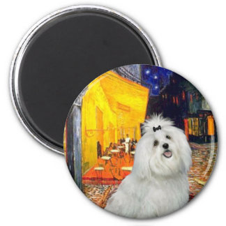 Maltese 7 - Terrace Cafe 2 Inch Round Magnet