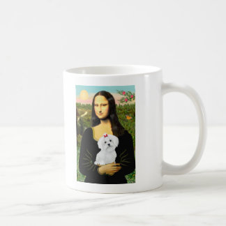Maltese 8 pup - Mona Lisa Coffee Mug