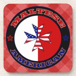 Maltese American Cross Ensign Coaster Set